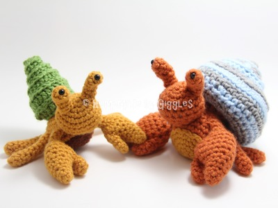Hermit Crab with Removable Shells Crochet Pattern - Assembly Tutorial