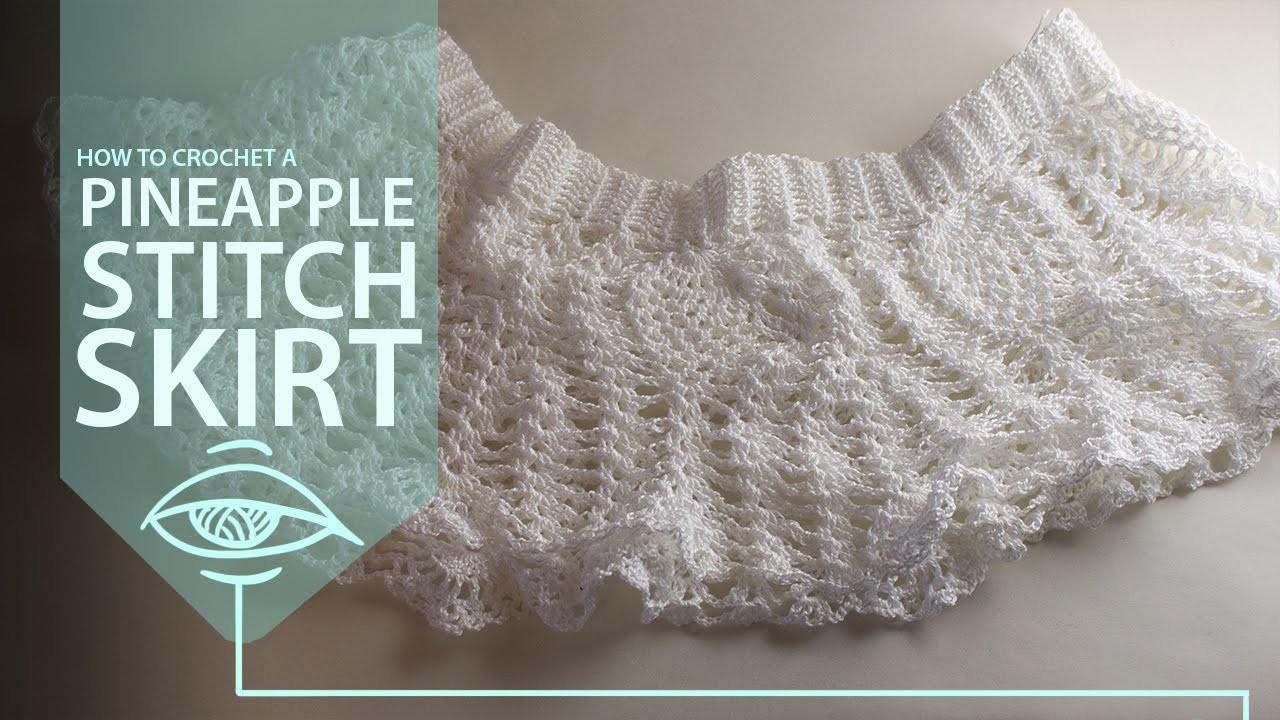 How to crochet a pineapple skirt part 3.4