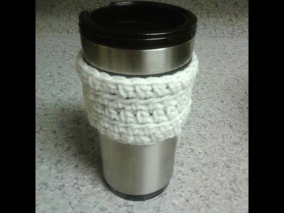HOW TO CROCHET A QUICK COFFEE SLEEVE TUTORIAL!!!!!!