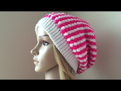 How To Crochet A Raspberry Stitch Hat, Lilu's Handmade Corner Video # 102