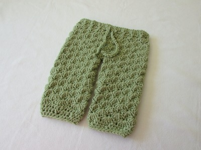 How to crochet shell stitch leggings. trousers. pants - any size