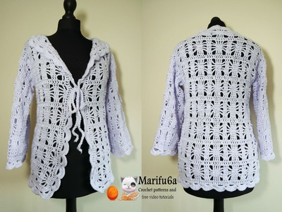 How to crochet spider jacket all sizes pattern tutorial