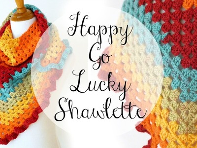 How To Crochet the Happy Go Lucky Shawlette, Episode 336