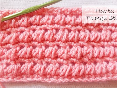 How to Crochet The Triangle Stitch