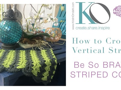 How to Crochet Vertical Stripe Cowl Brave