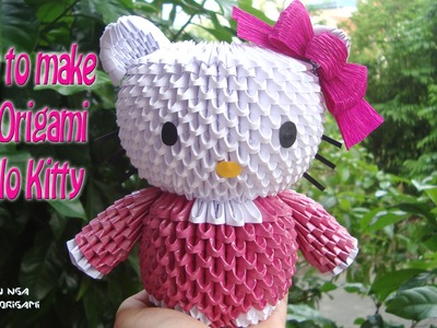 How To Make 3D Origami Hello Kitty | DIY Hello Kitty Tutorials | Handmade Hello Kitty Gift