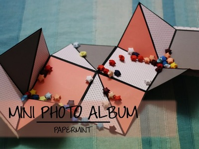 How to make a Mini Photo Album | DIY | simple paper folding |