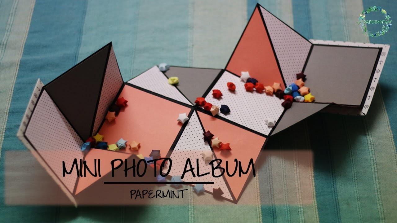 How to make a Mini Photo Album | DIY | simple paper folding |