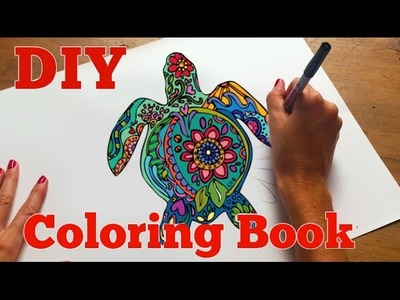 How to Make an Adult Coloring Book   DIY Coloring Book