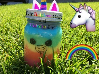 How To Make DIY Rainbow GAK and A DIY Unicorn Jar! The Emma Lu Show