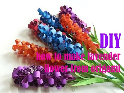 How to make lavender Flowers with origami - DIY
