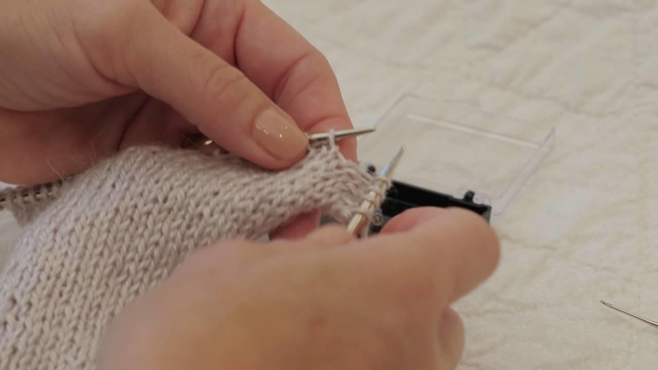 Knitting With Beads (Crochet Hook Method)