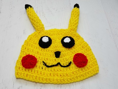 Little Yellow Monster (pikachu inspired crochet hat)