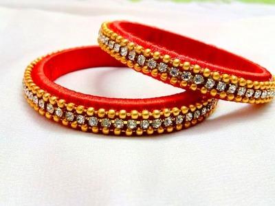Making easy silk thread bangles I DIY silk thread bangles I How to make I Creative Diaries