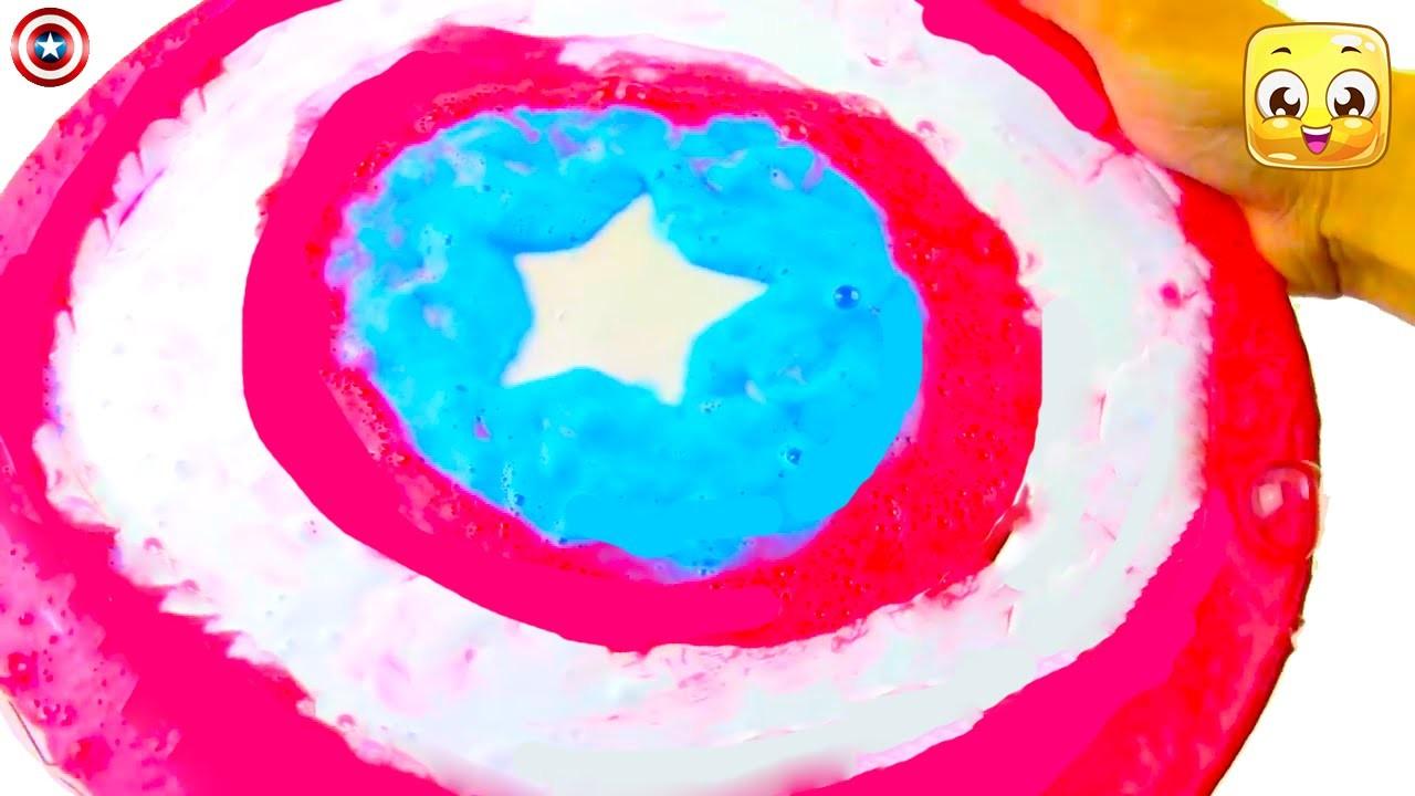 MEGA Slime English DIY Captain America Shield Giant Kilo Tutorial