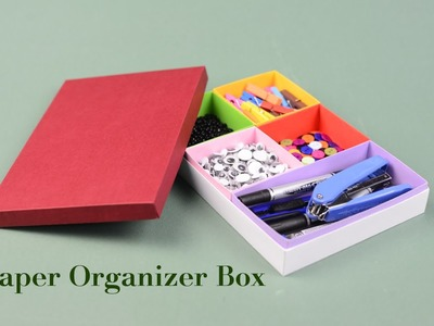 Paper Organizer Box Tutorial with template | Creative DIY