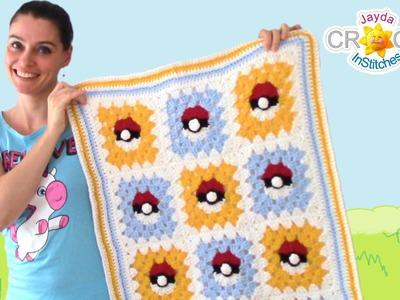 Pokemon Granny Square Crochet Blanket Pattern