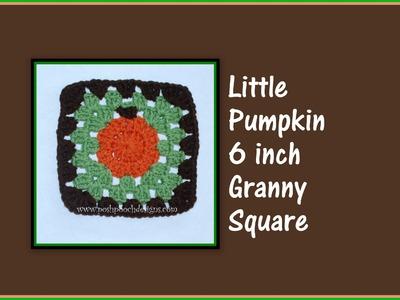 Pumpkin Granny Square Crochet Pattern