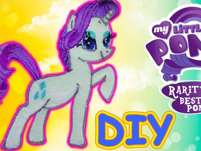 Rarity My Little Pony with 3d pen! Speedpaint! DIY video for kids