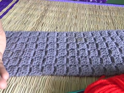 Simple scarf.cowl crochet in English