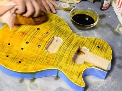 Slash AFD DIY Les Paul Kit - (Part 1: Sanding.Staining)
