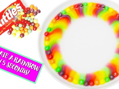 The Most SATISFYING Video Ever! Easy DIY Skittles Rainbow!