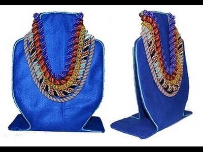TUTORIAL:Come fare un Espositore per Collane. How to make a stand for Necklaces jewelry displays