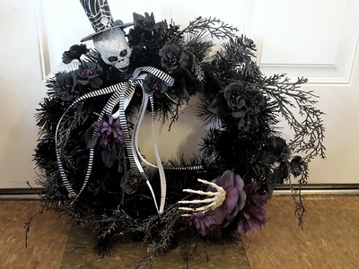 Very Easy DIY Halloween wreath!