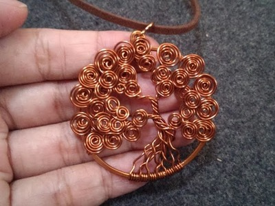 Wire Jewelry Lessons - DIY - handmade jewelry tutorials - How to make tree of life pendant