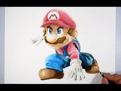 Cómo dibujar a Mario Bros 3D - How to Draw Mario Bros 3D