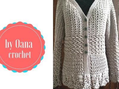 Crochet arrow cardigan- by Oana