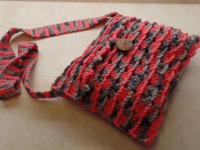 CROCHET How To #Crochet Easy Shells & Chains Cross Body Bag Purse TUTORIAL #337