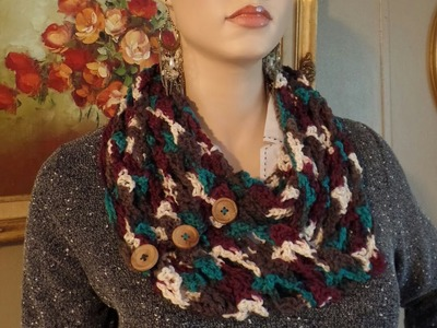 CROCHET How To #Crochet Quick and Easy 1 Skein Shell Infinity Scarf Wrap TUTORIAL #334