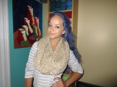 Crochet infinity scarf for beginners