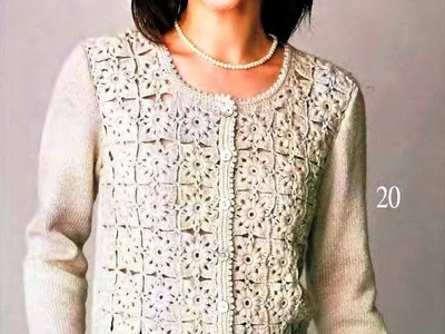 Crochet Patterns| for free |crochet cardigan| 894