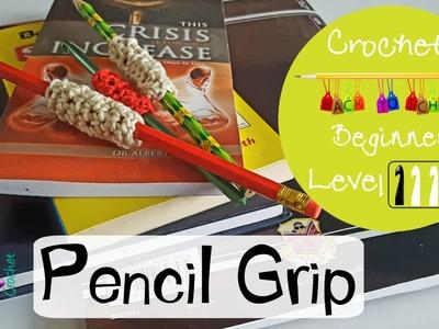 Crochet Pencil Grip. Crochet Hook Cover ~ BACK TO SCHOOL