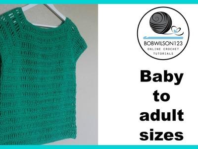 Crochet Summer top tutorial & bloopers