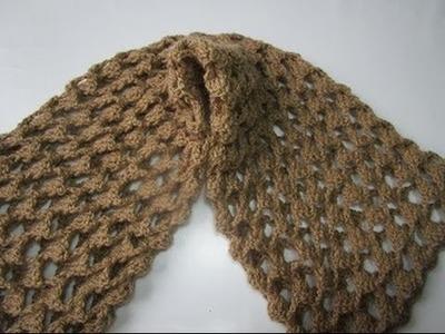 Crochet  uncinetto sciarpa 3d schema tutorial passo a passo