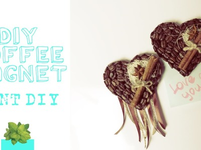 DIY COFFEE MAGNET ⊘ ROOM DECOR ♡