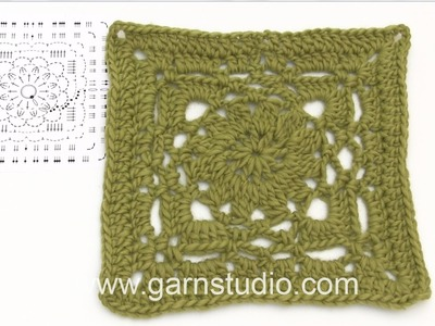 DROPS Crocheting Tutorial: How to work chart A.1 for the jacket in DROPS 173-31