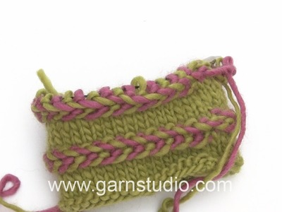 DROPS Knitting Tutorial: How to work Latvian Braid