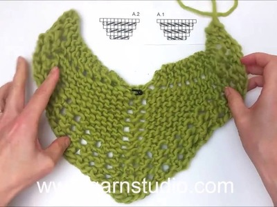 DROPS Knitting Tutorial: How to work shawl in DROPS 143-5