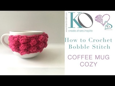 How to Crochet Bobble Coffee Cozy Quick Gift Handmade