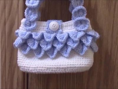 How to crochet crocodile stitch handbag.
