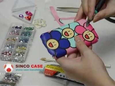 How to decorate a Cell phone Case - DIY 3D bling diamonds