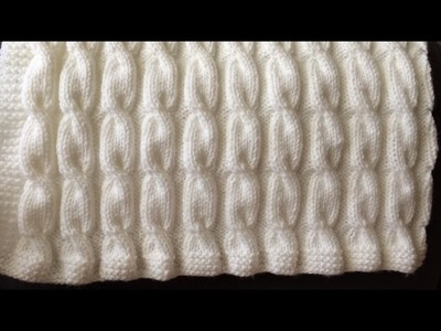 How To Knit A Cable Baby Blanket, Lilu's Handmade Corner Video # 106