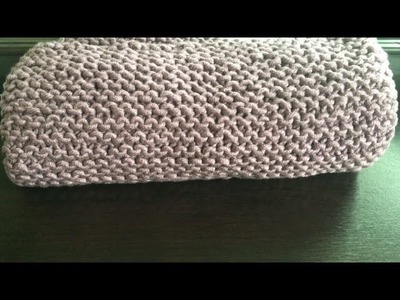 How To Knit A Chunky Baby Blanket, Lilu's Handmade Corner Video # 107