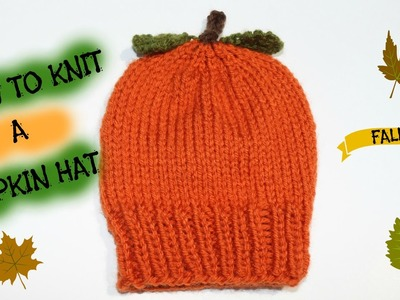 How to Knit a Pumpkin Hat