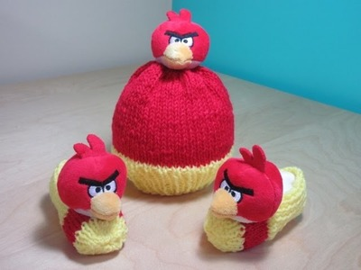 How to knit angry birds hat for beginners.