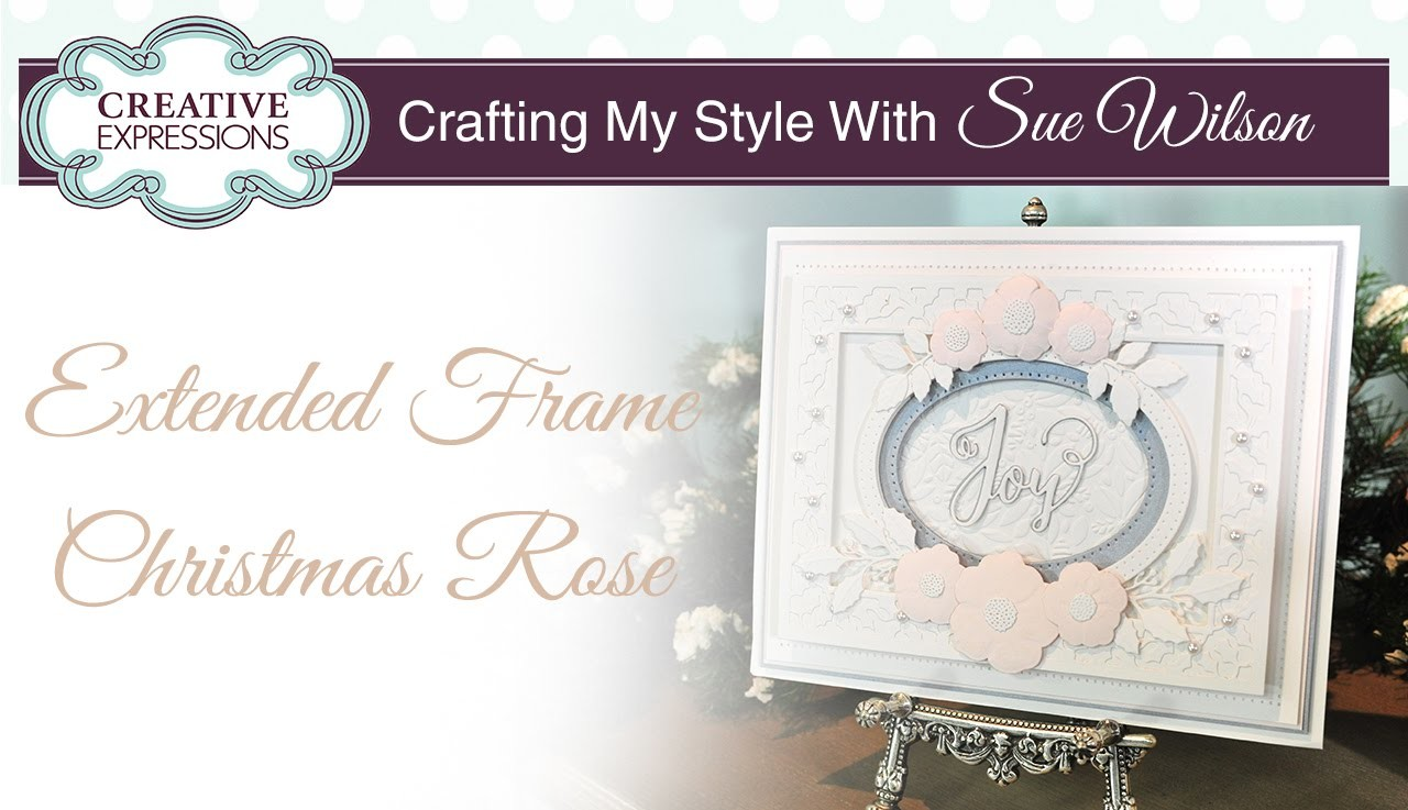 How to Make a Christmas Rose Card   Crafting My Style with Sue Wilson